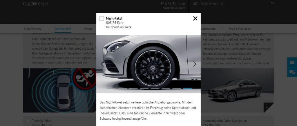 Mercedes Benz AMG CLA 45 filtrado